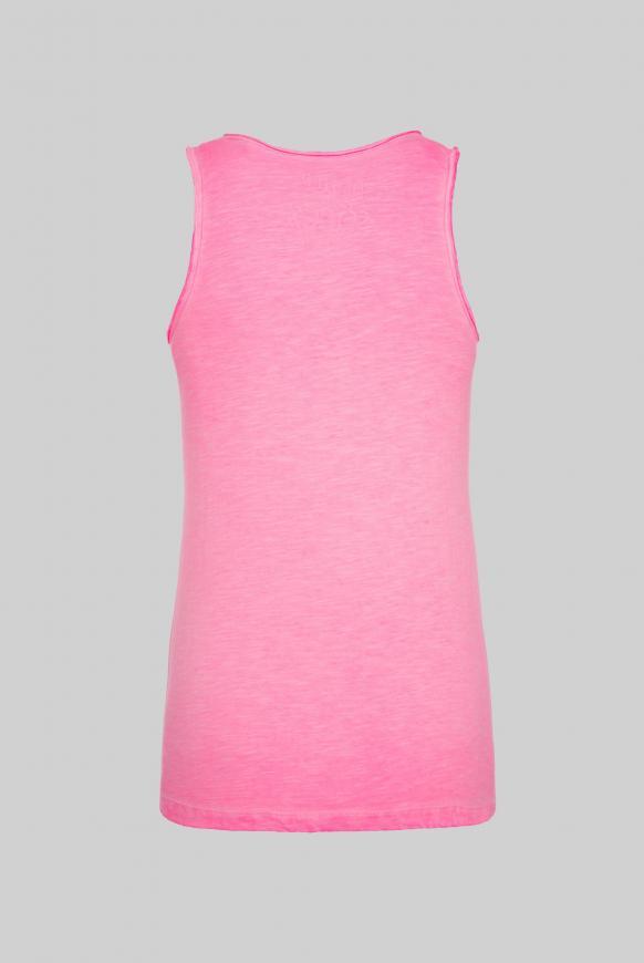 Top mit Used Look und Artwork paradise pink