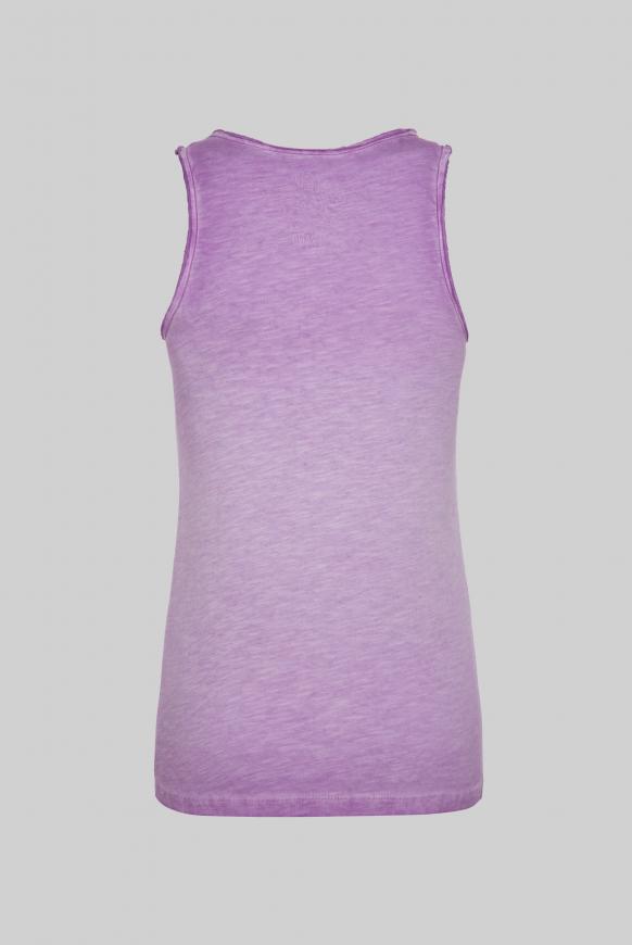 Top mit Used Look und Artwork lavender sky
