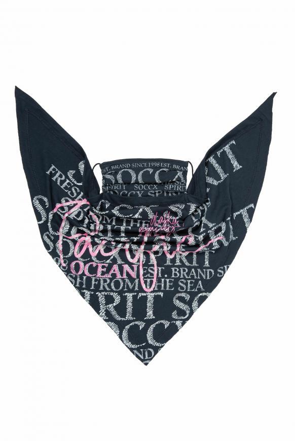 Triangle-Tuch mit Logo Artwork blue navy