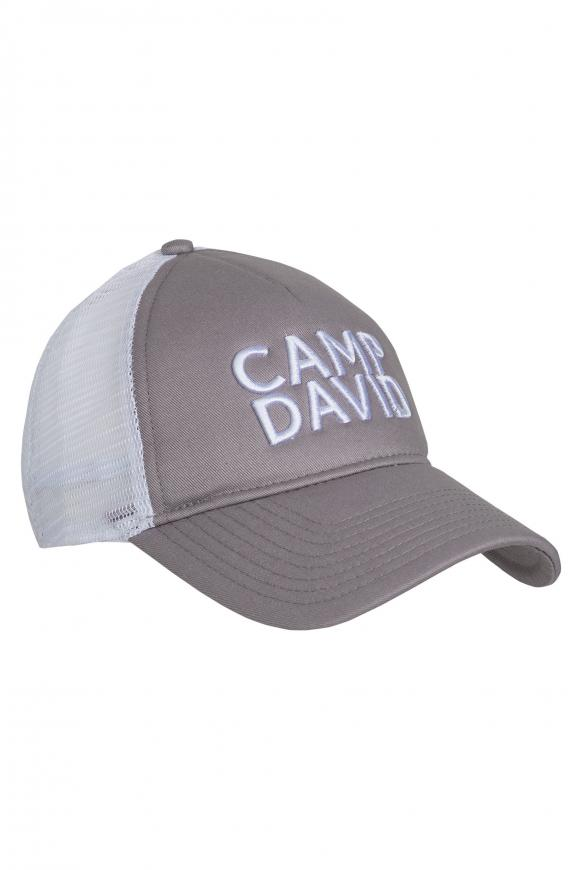 Trucker Cap mit 3D-Stickerei grey