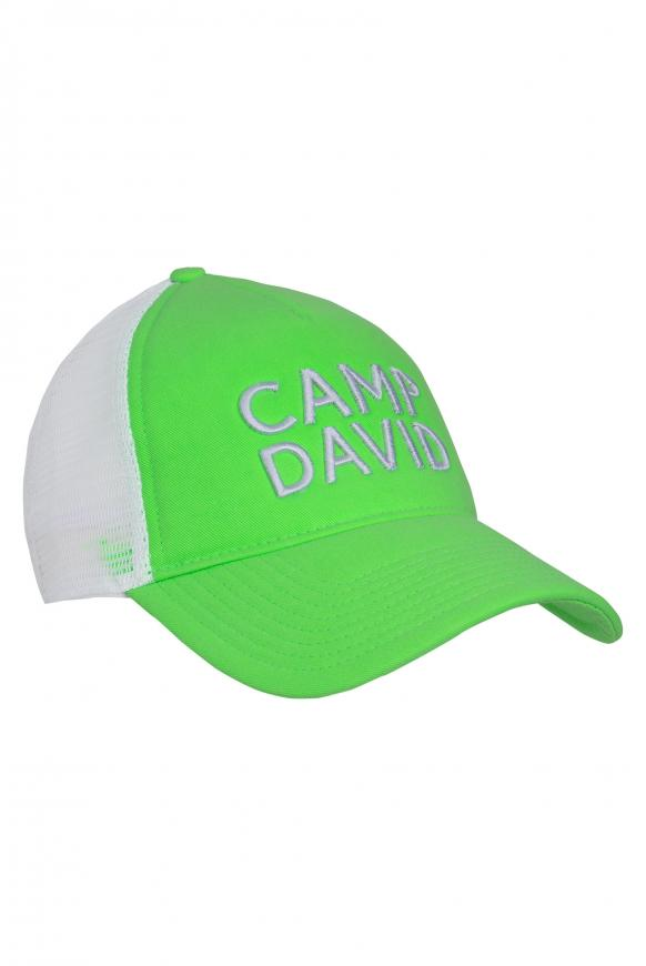 Trucker Cap mit 3D-Stickerei signal green