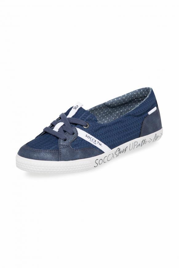 Veganer Ballerina-Sneaker blue navy