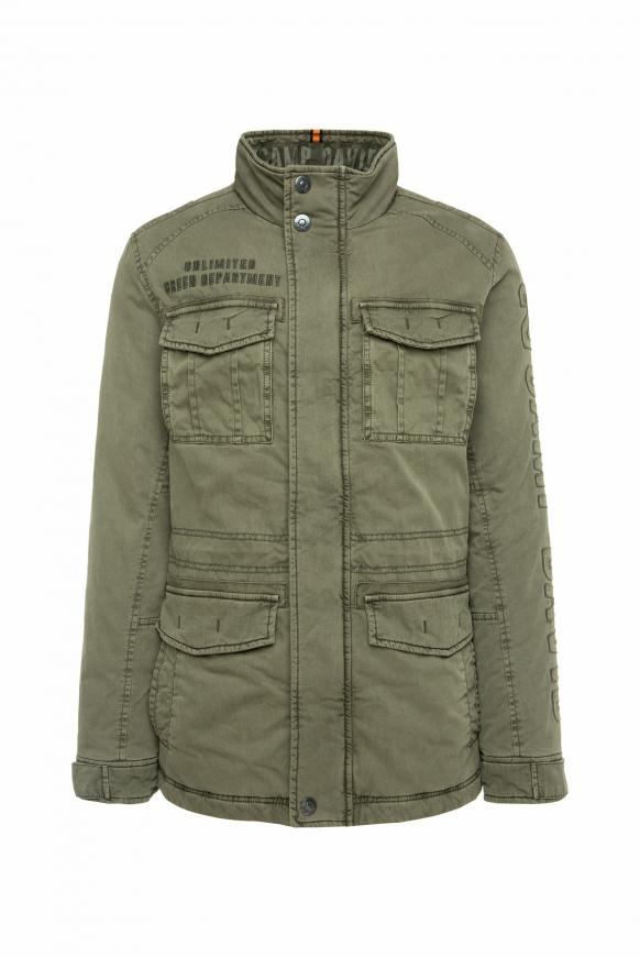 Wattierte Jacke mit Label-Applikationen medium khaki