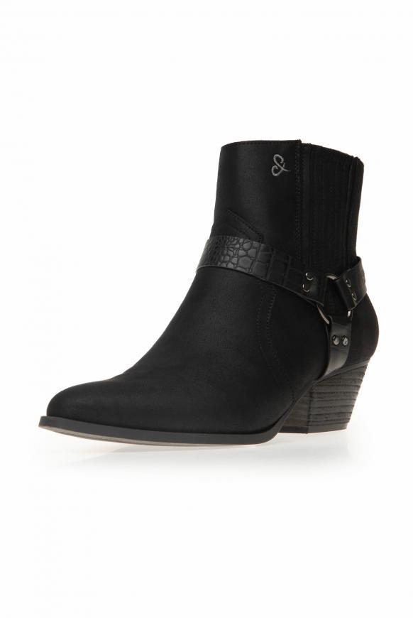 Western-Boots aus Kunstleder mit Ringschnalle black