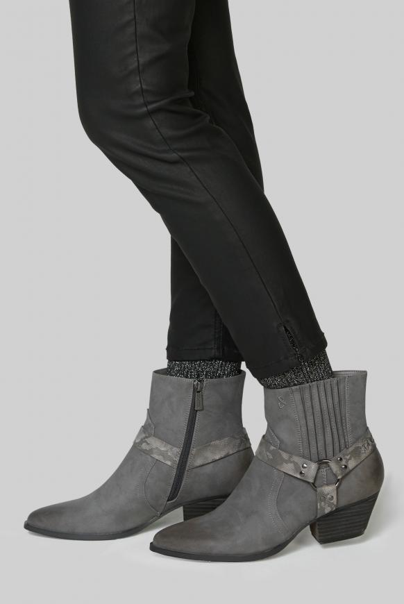 Western-Boots aus Kunstleder mit Ringschnalle iron