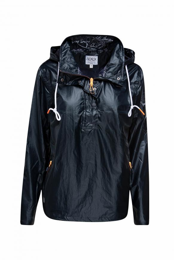 Windbreaker mit Kapuze und Coating horizon navy