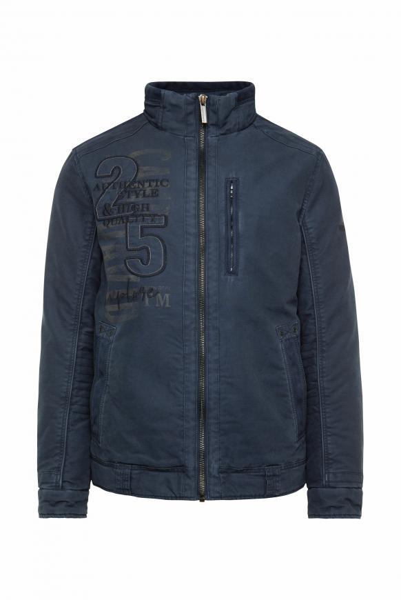 Winterjacke aus Baumwolle im Biker-Stil blue navy