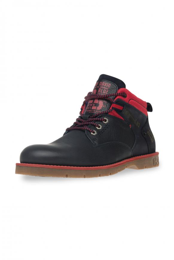 Worker Boots aus Leder mit Logo-Design blue navy