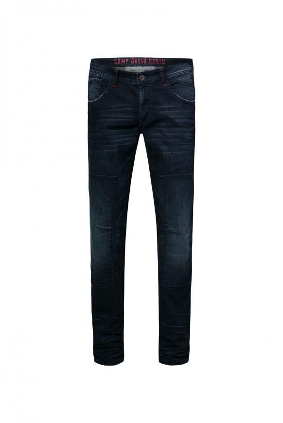 Worker Jeans mit authentischen Destroy-Effekten dark blue vintage