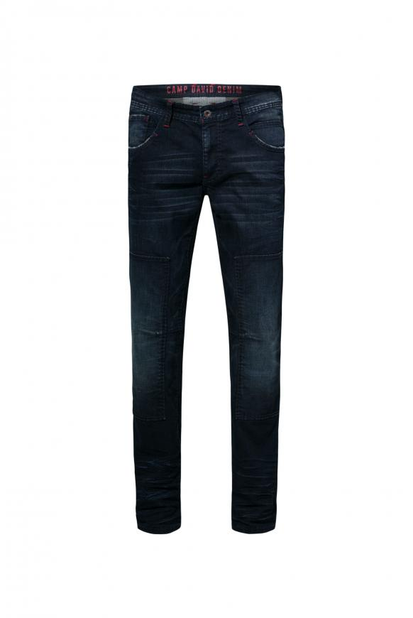 Worker Jeans mit authentischen Destroy-Effekten WI:LL dark blue vintage