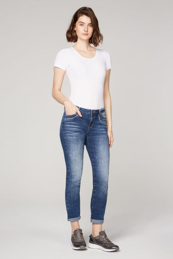 Comfort Fit Jeans CH:AR mit Used-Optik