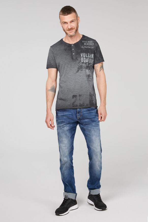 Henley-Shirt im Vintage Look mit Artwork