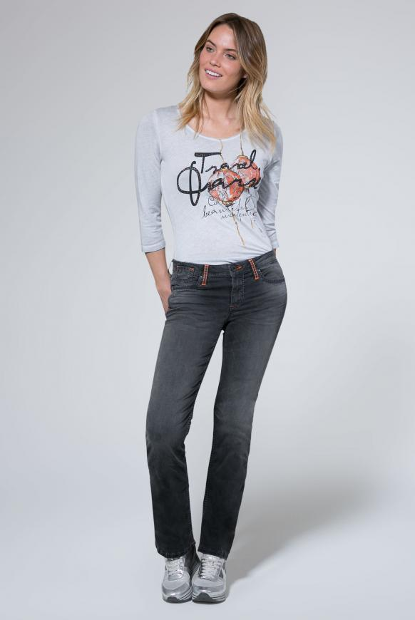 Jeans CO:LE mit Used-Optik und Boot Cut
