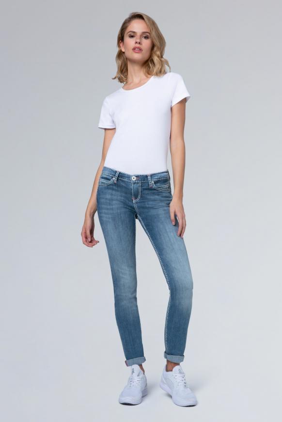 Jeans HE:DI mit Stretch und Vintage-Waschung