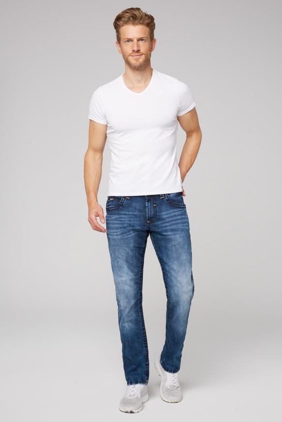 Jeans NI:CO mit dunkler Used-Waschung