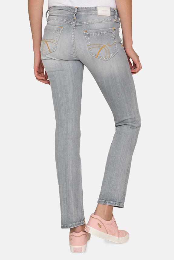 Jeans RO:MY mit breiten Steppnähten