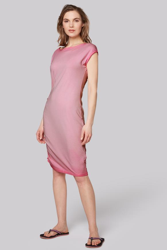 Kleid mit Seitenraffung und Back Artwork