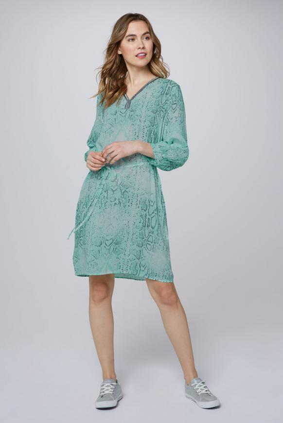 Kleid mit Snake Print und Pailletten