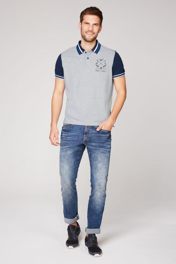 Kurzärmliges Poloshirt aus Pikee