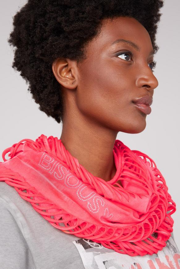 Loop-Schal mit Cut-Outs und Logo Print