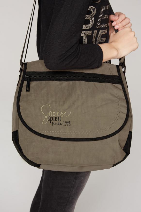 Messenger Bag aus Nylon mit Logo Artwork