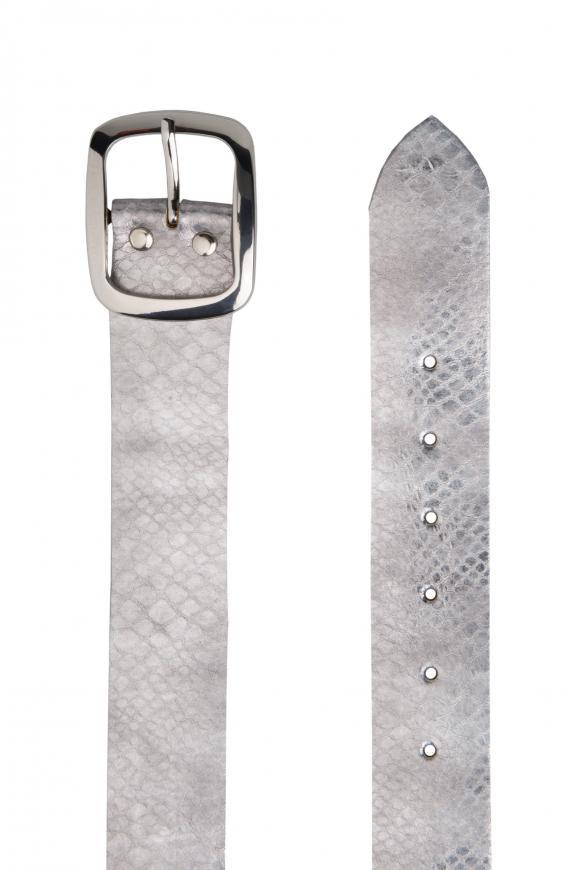 Metallic-Gürtel mit Snake-Muster