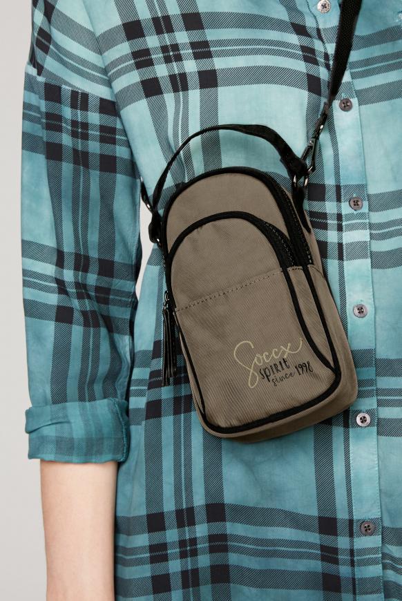 Phone Crossbag aus Nylon mit Logostick