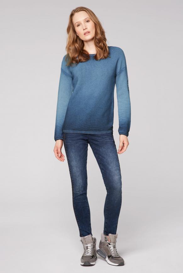 Pullover mit Intarsien-Einsatz am Rücken