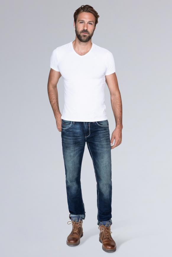 Regular Fit Jeans NI:CO Regular Fit Jeans mit 3-D-Knittereffekten