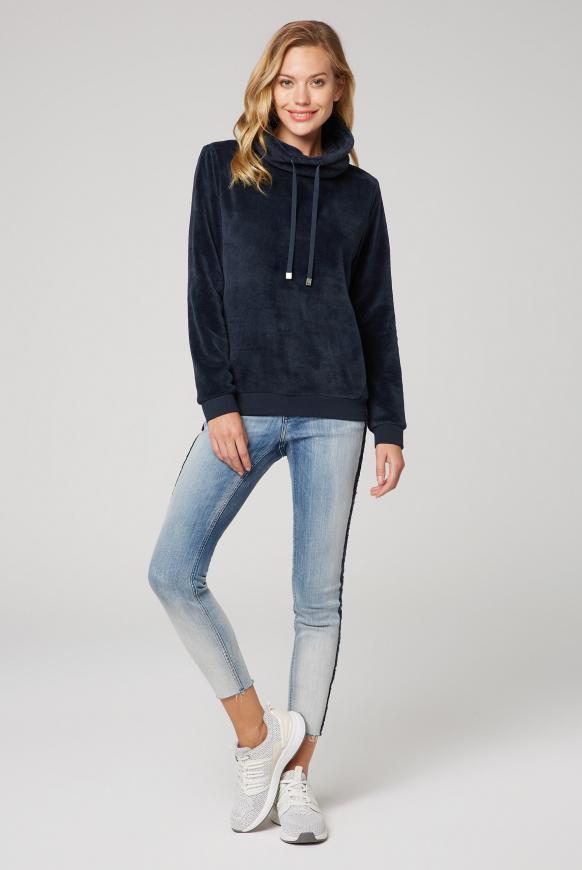 Sherpamix-Sweatshirt mit Rücken-Artwork