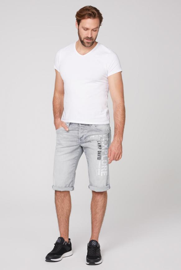 Skater Jeans Shorts RO:BI mit Label Print