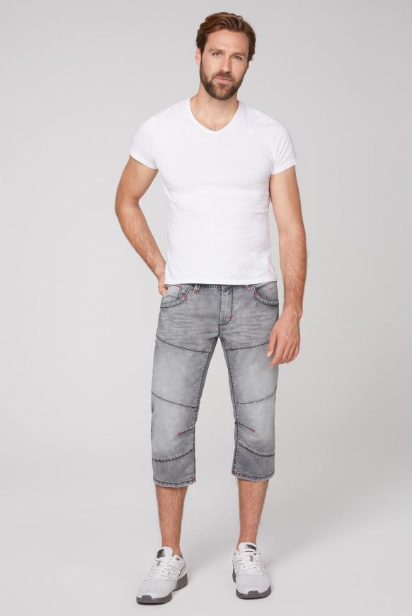 Skater Shorts HE:RY mit Used-Waschung
