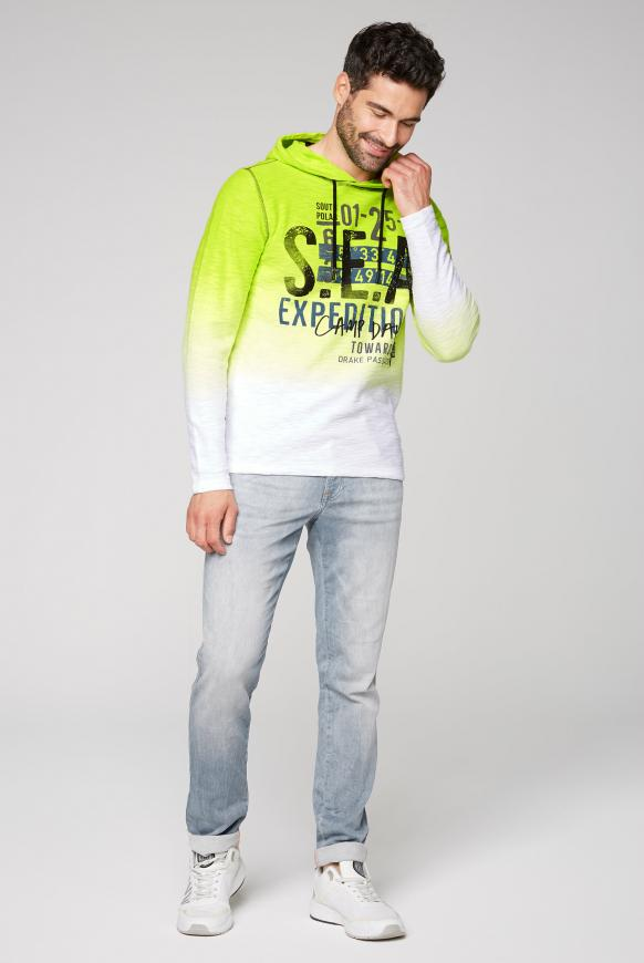 Strick-Hoodie mit Dip-Dye-Effekt