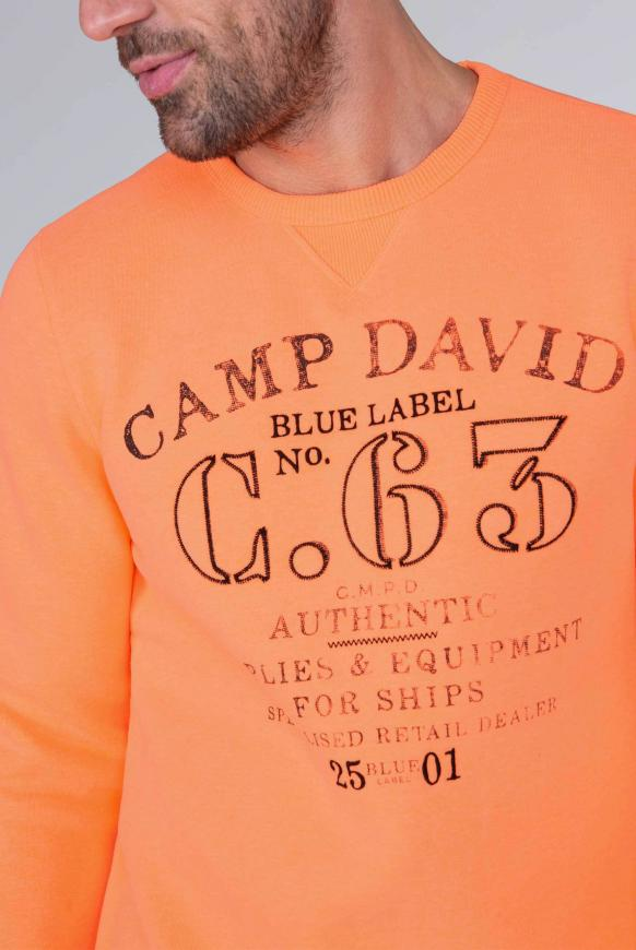 Sweater mit Logo Print und Stickereien