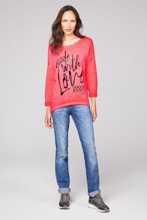 Sweatshirt mit Artwork und 3/4-Arm
