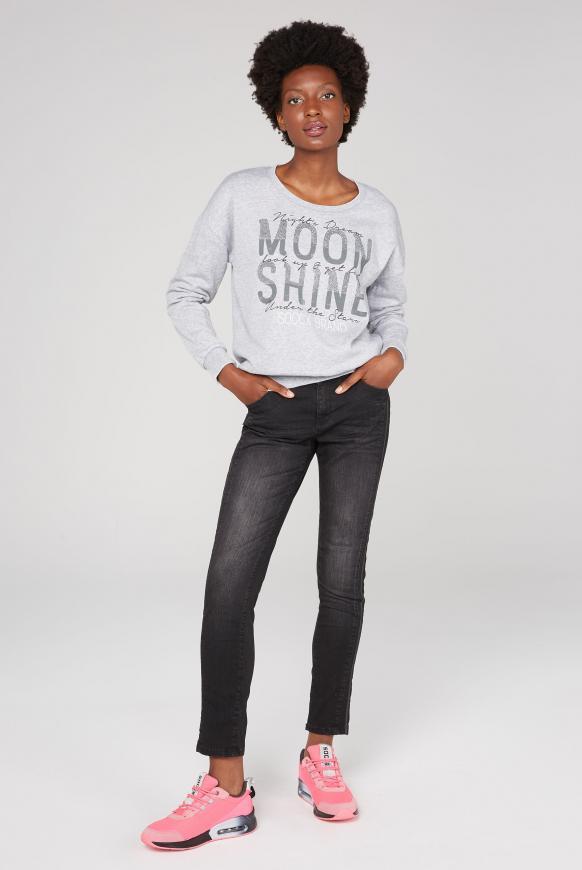 Sweatshirt mit Ausbrenner-Effekten