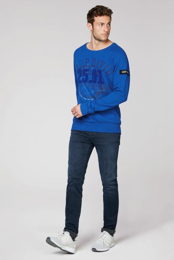 Sweatshirt mit Frottee-Artwork