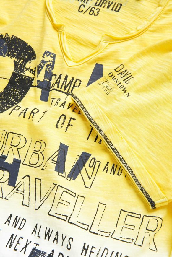 T-Shirt aus Flammgarn mit Dip-Dye-Effekt