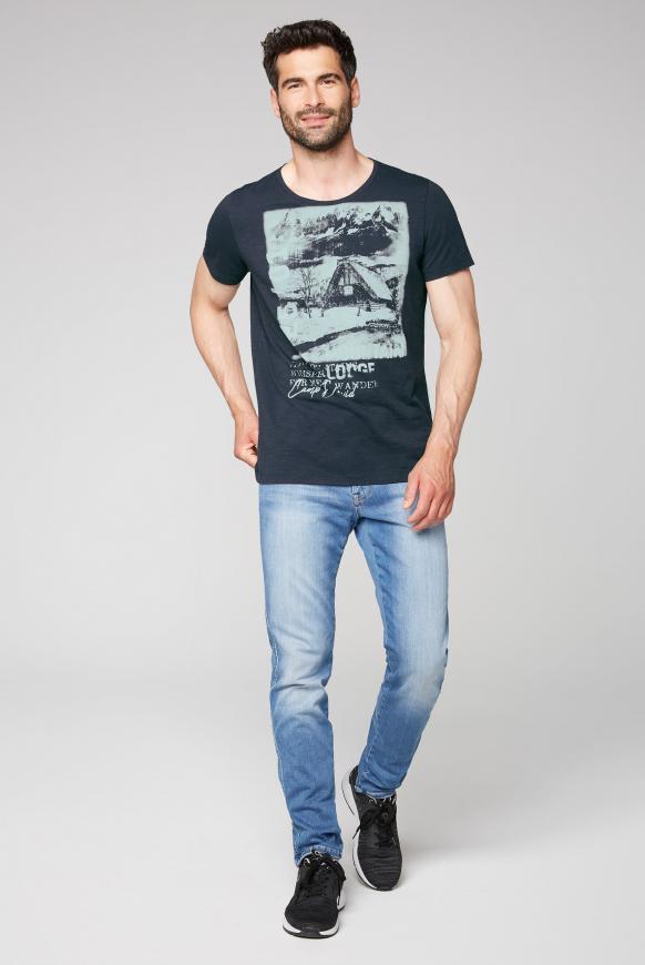 T-Shirt aus Flammgarn mit Photoprint