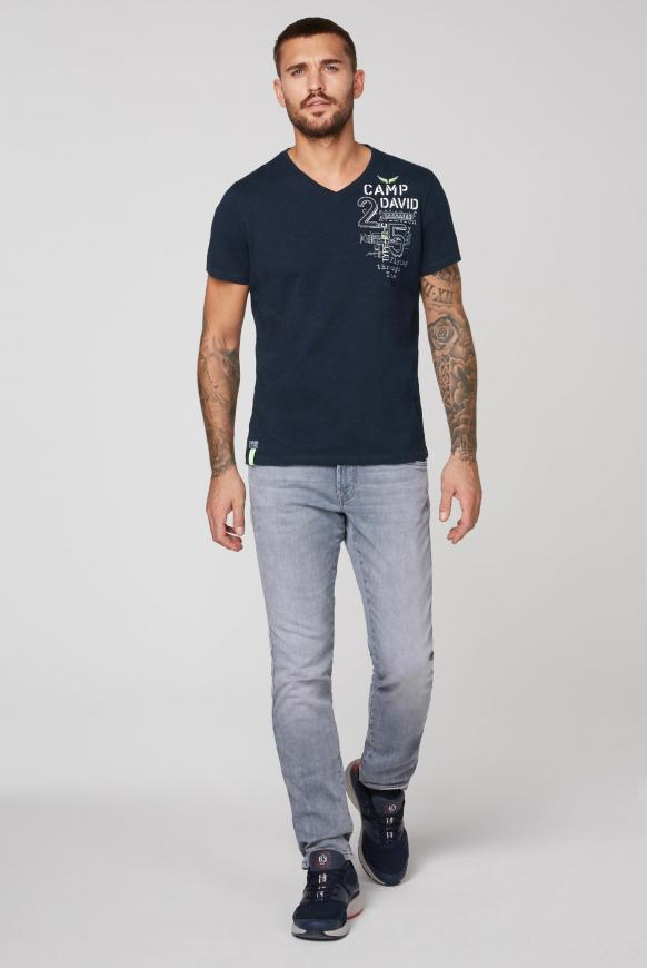 T-Shirt aus Flammgarn mit Rücken-Artwork