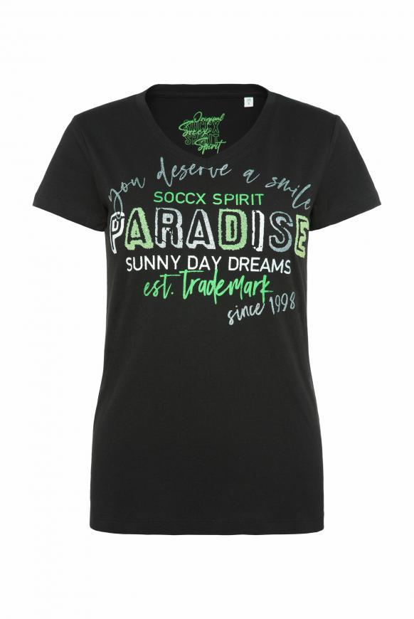 T-Shirt mit Caviar-Glitter-Print