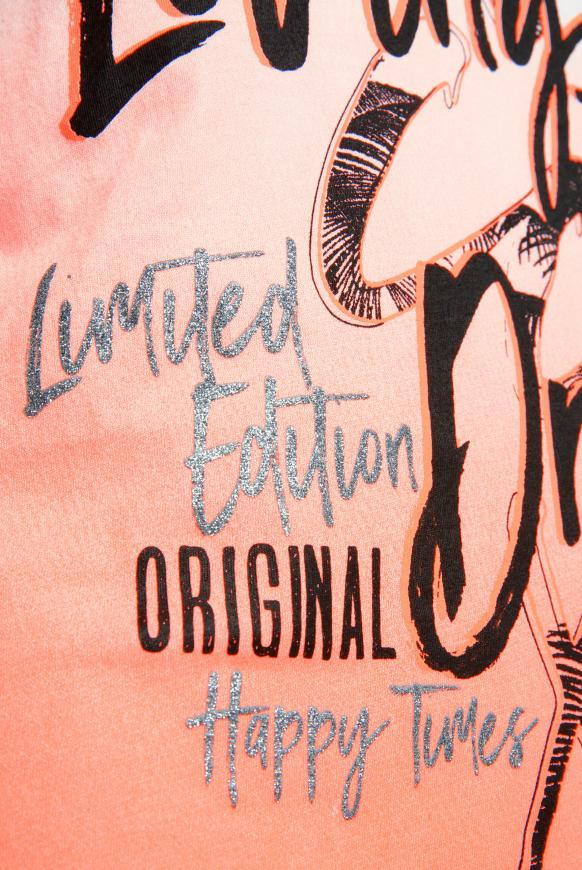 T-Shirt mit Dip-Dye-Effekt und Frontprint