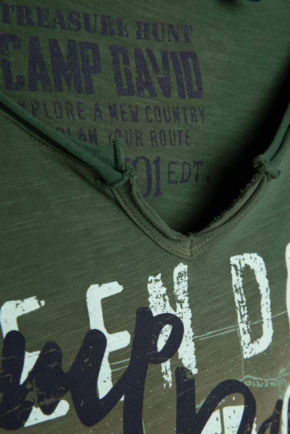 T-Shirt mit Farbverlauf und Label Prints