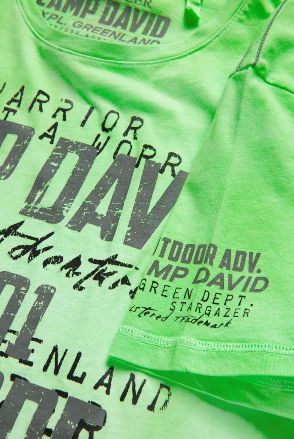 T-Shirt mit Farbverlauf und Logo Print