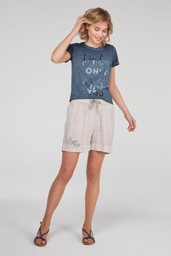 T-Shirt mit Glitter Artwork