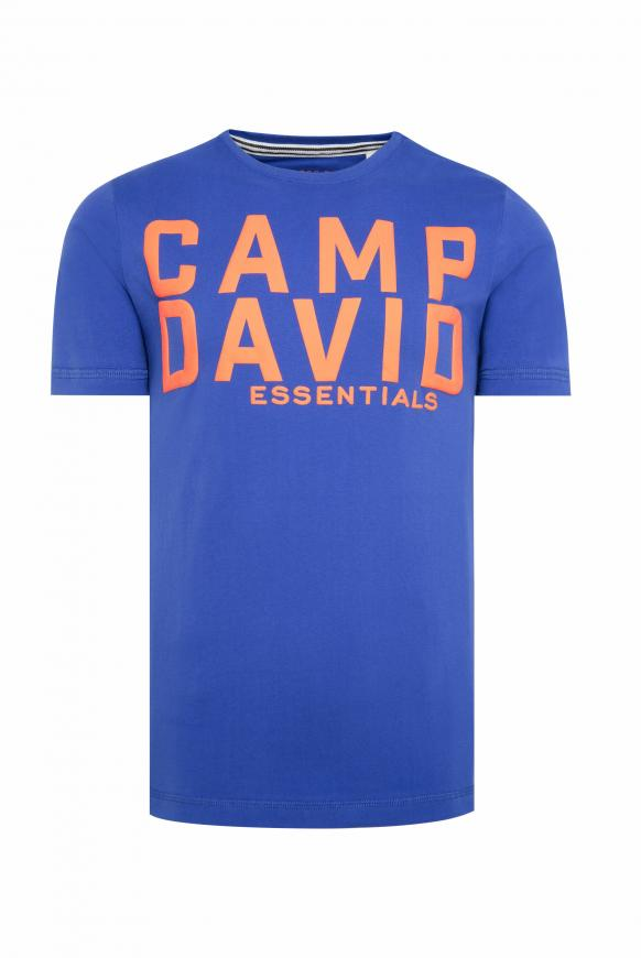 T-Shirt mit großem Logo Puff Print
