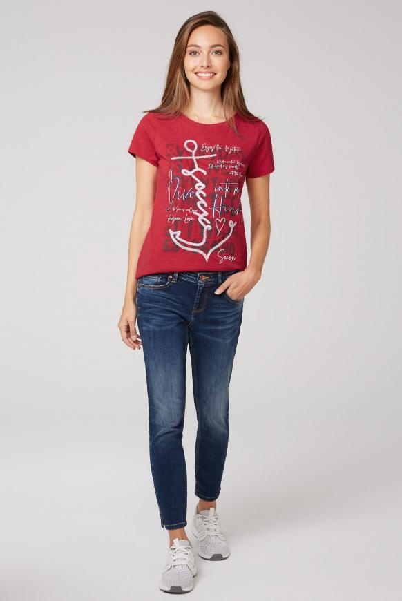 T-Shirt mit Pailletten-Artwork