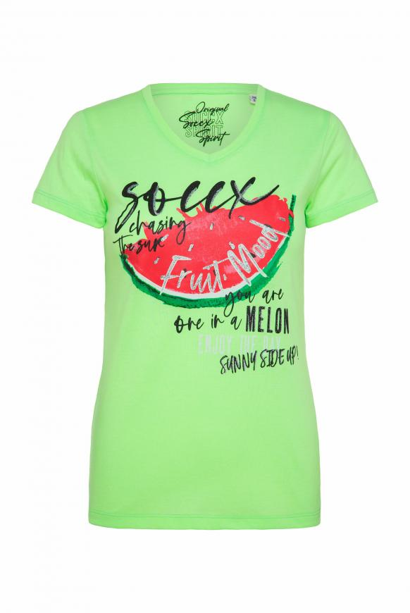 T-Shirt mit Photo-Glitter-Print
