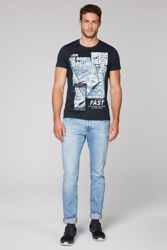 T-Shirt mit Photo- und Puff-Print