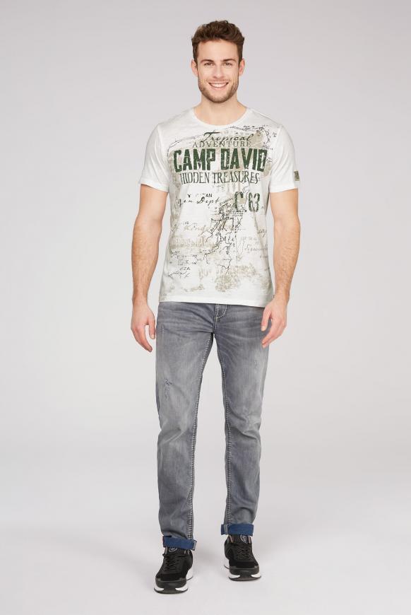 T-Shirt mit Watercolour Print